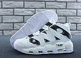 Мужские высокие кроссовки Air More Uptempo черно-белые, фото 8