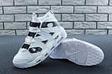 Мужские высокие кроссовки Air More Uptempo черно-белые, фото 9