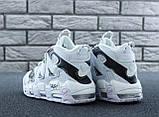 Мужские высокие кроссовки Air More Uptempo черно-белые, фото 10