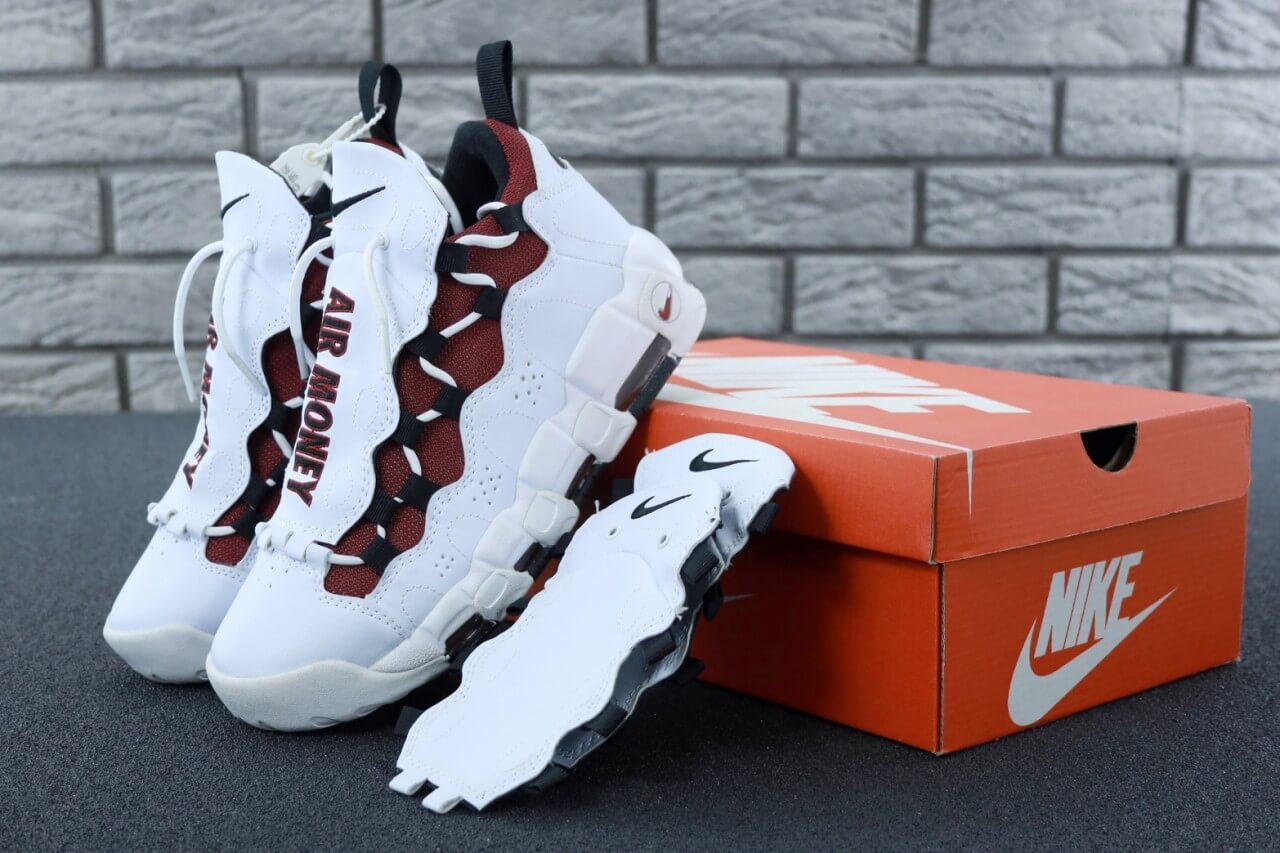 Кроссовки Nike Air Money белые кожаные