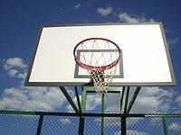 Щит баскетбольный 1800Х1050мм из ламинированной водостойкой фанеры 10мм с антивибрационной металлической рамой, фото 1