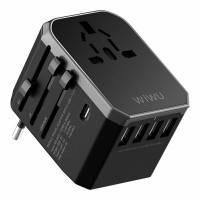 Универсальное зарядное устройство для путешествий WIWU UA301 Universal Travel Adapter, фото 2