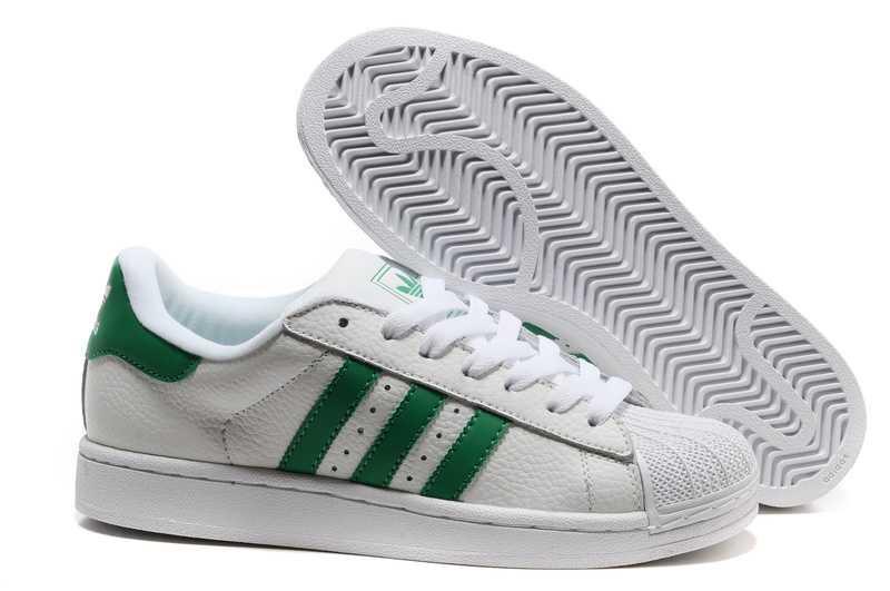 Кроссовки Adidas Superstar White Green бело-зеленые