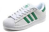 Кроссовки Adidas Superstar White Green бело-зеленые, фото 2