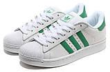 Кроссовки Adidas Superstar White Green бело-зеленые, фото 3