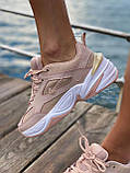 Женские кроссовки Nike M2K Tekno Pink (Найк М2К Текно кожаные розовые), фото 2