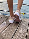 Женские кроссовки Nike M2K Tekno Pink (Найк М2К Текно кожаные розовые), фото 4