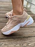 Женские кроссовки Nike M2K Tekno Pink (Найк М2К Текно кожаные розовые), фото 8
