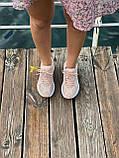 Женские кроссовки Nike M2K Tekno Pink (Найк М2К Текно кожаные розовые), фото 9