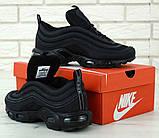 Мужские черные кроссовки Nike Air Max 97 Plus, фото 3