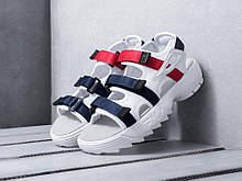 Спортивные сандалии Fila White Blue Red (Фила красно-бело-синие на лето)