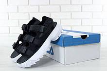 Спортивные сандалии Fila Черно-Белые (Фила) женские и мужские размеры: 36-45