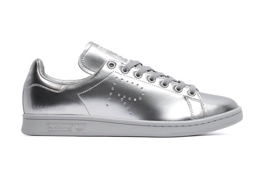 Кроссовки Adidas Stan Smith X Raf Simons Metallic Silver
