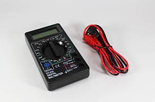 Мультиметр / тестер универсальный DT830 / цифровой / с ЖК дисплеем