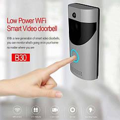 Домофон SMART DOORBELL wifi B30 1080p (работает от 2 х 18650 в комплект не входят)