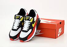 Кроссовки Nike Air Max 90 Black White Red Yellow