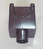 Водосточная воронка ф80 Коричневая 8017 для отвода воды с плоской кровли с парапетом, фото 6