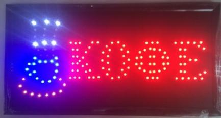 """Светодиодная рекламная вывеска """" Кофе """" / LED вывеска / табличка 48х25 sale"""