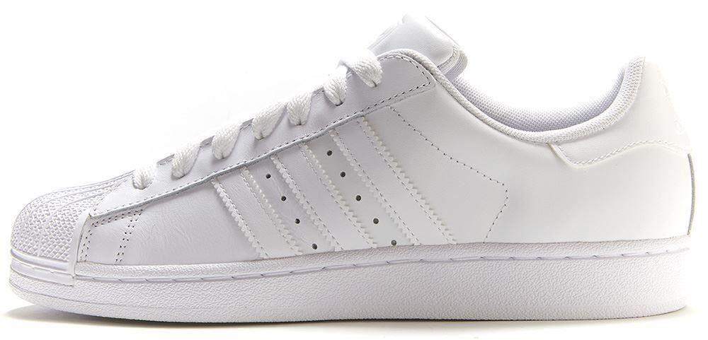 Женские кроссовки Adidas Superstar All White Gold белого цвета