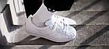 Женские кроссовки Adidas Superstar All White Gold белого цвета, фото 4