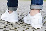Женские кроссовки Adidas Superstar All White Gold белого цвета, фото 7