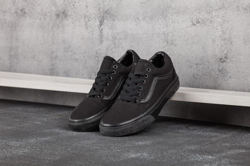 Кеды Vans Old Skool Triple Black Pro (Вансы Олд Скул Про черные весна/лето/осень мужские и женские размеры)