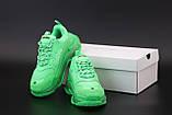 Женские кроссовки Balenciaga Triple S Green (Баленсиага Трипл С зеленого цвета), фото 6