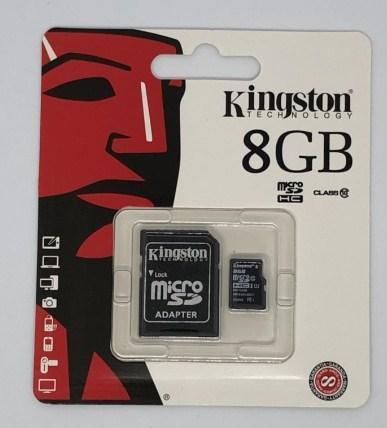 Карта памяти micro KINGSTON 8GB (c адаптером)