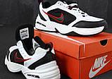 Кроссовки Nike Air Monarch 4 черно-белые (Найк Монарх мужские и женские размеры 36-45), фото 5