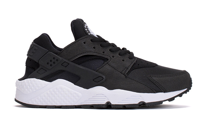Кроссовки Nike Huarache Black White Найк Хуарачи черно-белые мужские и женские размеры 36-45)