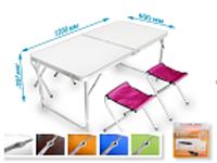 Стіл для пікніка Folding table N0.4 зелене