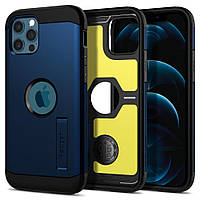 """Чохол Spigen для iPhone 12 / iPhone 12 Pro (6.1"""") - Tough Armor, Navy Blue (ACS02298)"""
