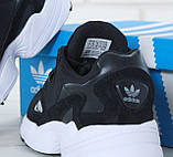 Женские кроссовки Adidas Falcon Black White, фото 8