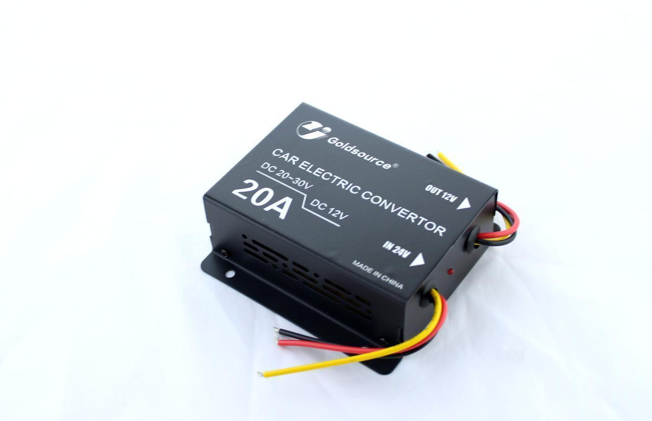 Преобразователь / инвертор  DC/DC 24v-12v 20A / Понижающий DC-DC преобразователь