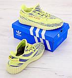 Мужские летние кроссовки Adidas Yeezy Boost 350 V2 (Адидас Изи Буст) салатовые весна/лето, фото 4