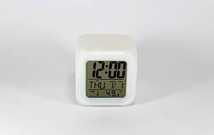 Светящиеся часы-хамелеон CX 508  с будильником / термометром