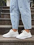 Белые кроссовки Adidas Yeezy Boost 350 White (Адидас Изи Буст) мужские и женские 36-45, фото 8