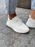 Белые кроссовки Adidas Yeezy Boost 350 White (Адидас Изи Буст) мужские и женские 36-45, фото 10