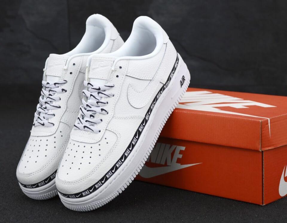 Мужские кроссовки Найк Аир Форс 1 белые