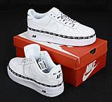 Мужские кроссовки Найк Аир Форс 1 белые, фото 3