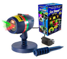 Диско LASER Star shower Laser Light + cassete 8003 лазерный проектор на дом