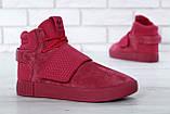 Женские высокие кроссовки Adidas Tubular Invader Strap Red, фото 2