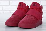 Женские высокие кроссовки Adidas Tubular Invader Strap Red, фото 3