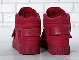 Женские высокие кроссовки Adidas Tubular Invader Strap Red, фото 5