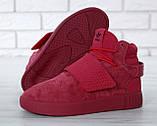 Женские высокие кроссовки Adidas Tubular Invader Strap Red, фото 7