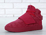 Женские высокие кроссовки Adidas Tubular Invader Strap Red, фото 8