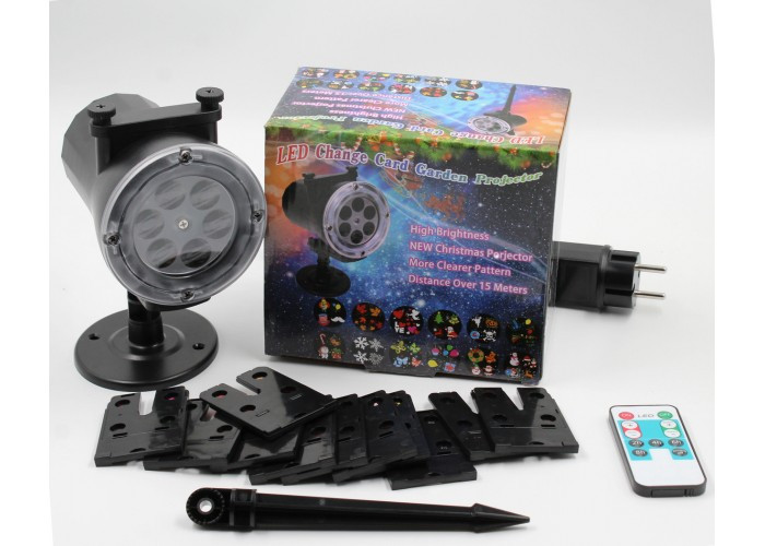 Диско лампа уличная LASER LIGHT STAR SHOWER WITH REMOTE AND 12 PHOTO
