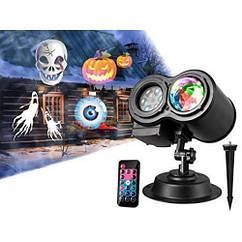Лазерный проектор (12 разных рисунков +4 цвета эффекта волны)