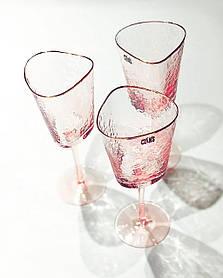 Бокал для коктейля розовый 350мл для кафе ресторанов и дома