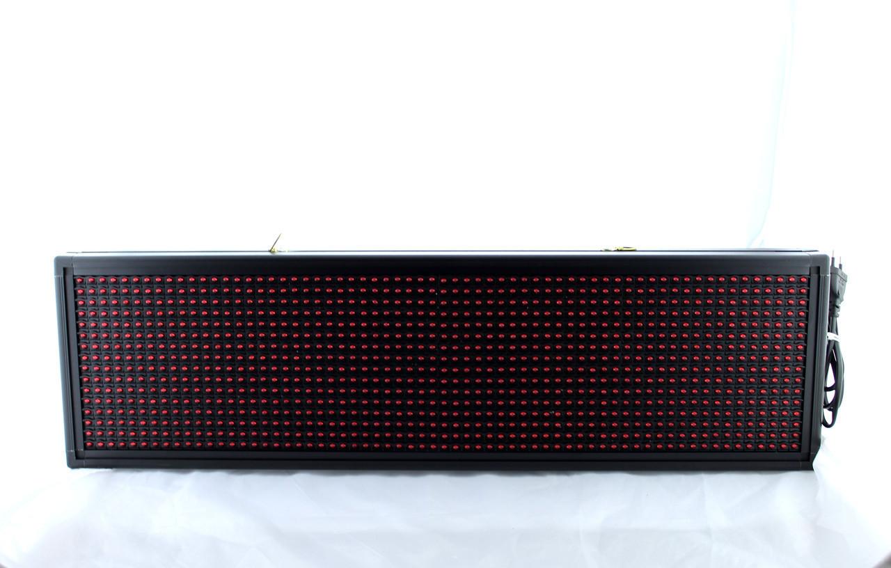 Бегущая строка с белыми диодами 200*23 White / Программируемые табло / Светодиодная LED вывеска sale